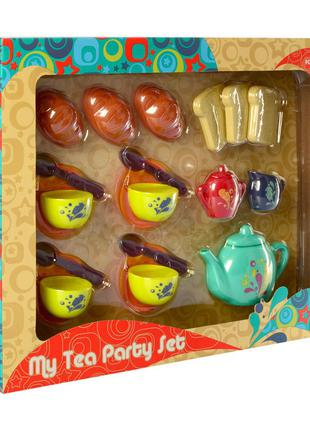 Игрушечная посуда P8326 чайный сервиз на 4персоны