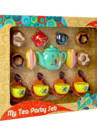 Игрушечная посуда P8325 чайный сервиз на 4персоны