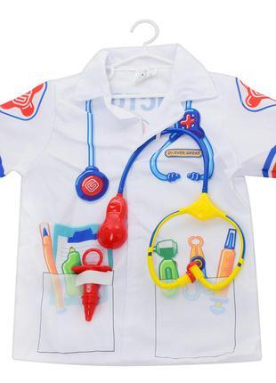 Детский набор доктора детский KN522 халат дл. 48см