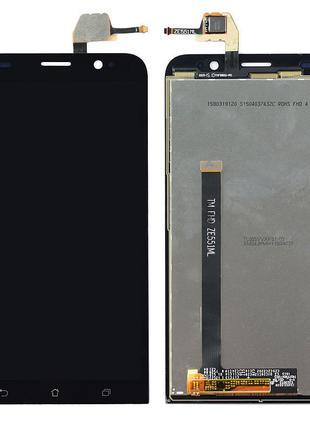 Дисплей (экран) для Asus ZenFone 2 (ZE551ML) + тачскрин, черный