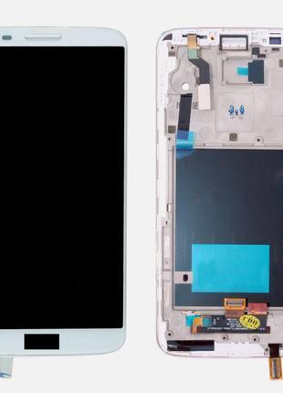 Дисплей (экран) для LG D800 G2, D801, D803 + тачскрин, цвет бе...