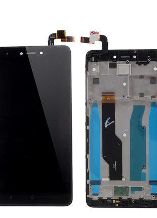 Дисплей (экран) для Xiaomi Redmi Note 4X + тачскрин, черный, с...
