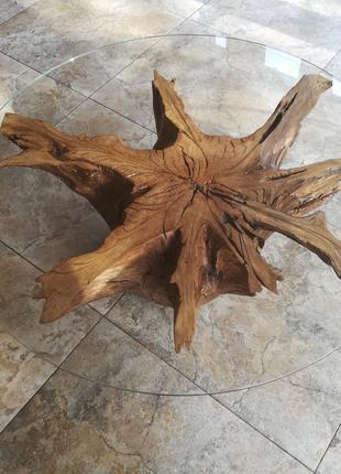 Журнальный кофейный столик из корня дуба.