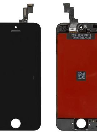 Дисплей Apple iPhone 5S / SE з сенсором (Чорний) Original Китай