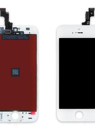 Дисплей Apple iPhone 5S / SE з сенсором (Білий) Original Китай