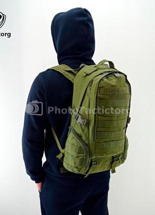 Тактический штурмовой рюкзак 30 литров с системой M.O.L.L.E Olive
