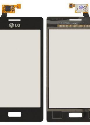 Сенсор (тачскрін) LG E610/E612 Optimus L5 (Чорний) Original*