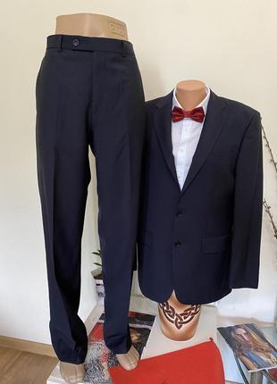 Костюм классический navyboot toccami 48размер l брюки пиджак