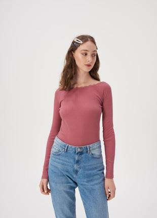 Новая розовая кофта темно-розовая блузка пыльная роза лонгслив...