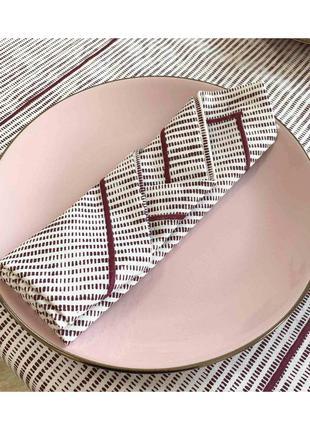 Салфетка на стол Avantime Мираж бордо 40х40 Прованс