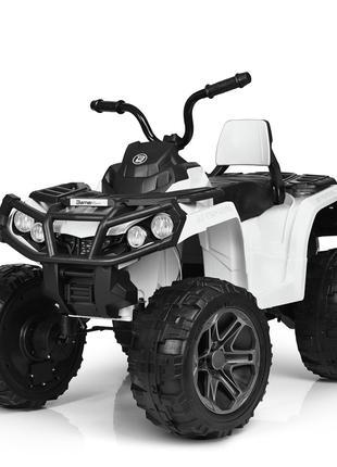 Детский квадроцикл M 3999 EBLR-1, с пультом управления, белый