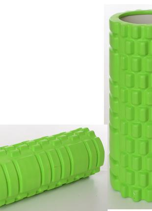 Массажер MS 0857-GR рулон для йоги, ЕVA, размер 33-14см, зелен...