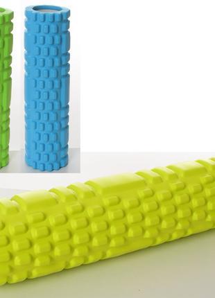 Массажный ролик для йоги CF88 Mono Салатовый (30х8,5 см) (MS 1...