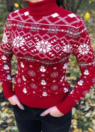 Новогодний ❄ женский свитер с оленями