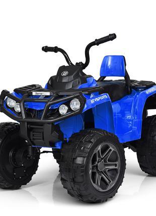 Детский квадроцикл M 3999 EBLR-4, с пультом управления, синий