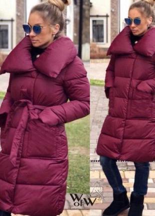 Куртка зимняя теплая с воротником, пальто куртка зимняя женская