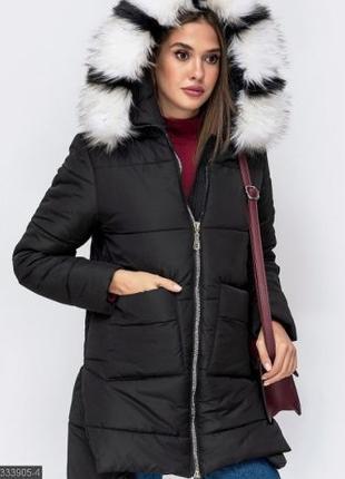 Куртка зимняя с мехом, куртка теплая зимняя, эко пуховик женский