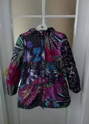 Яркая крутезная удлиненная куртка курточка для девочки 11 12 лет