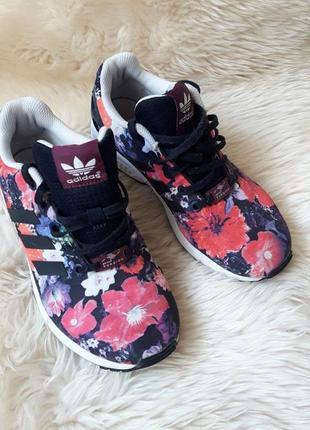 Кроссовки в цветочный принт adidas torsion 36.5 размер