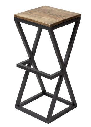 Барный стул GoodsMetall в стиле ЛОФТ 750х350х350 Песочные часы...
