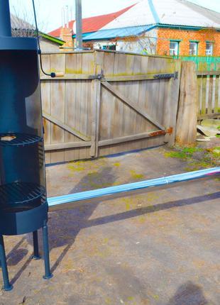 Коптильня холодного копчения с дымоходом для дома и дачи черно...
