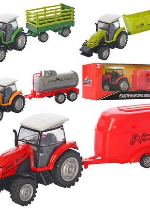 Трактор AS-2521 АвтоСвіт,с прицепом,металл,инер-й,24см, резин....