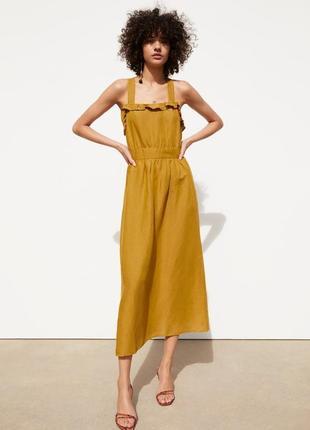 Платье в стиле рустик zara