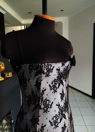 Готическое платье розы бандаж! гипюр кружево италия бельевой с...