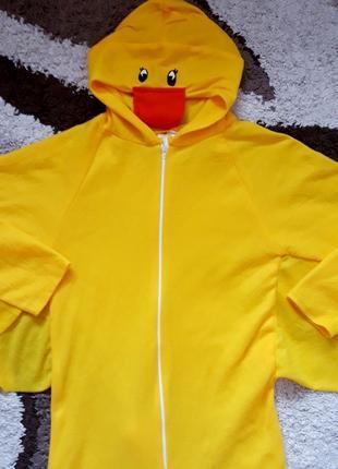 Кигуруми утка костюм карнавальный  10-12 лет уточка пижама