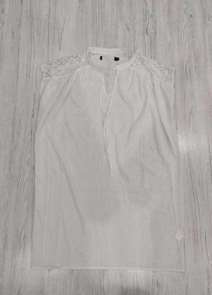 Ликвидация товара 🔥 белое свободное прямое платье со вставками...