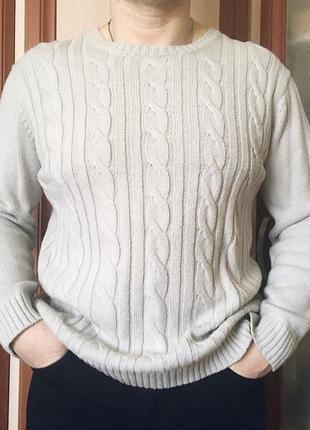 Мужской серый свитер, кофта, пуловер, джемпер,вязаный свитшот ...