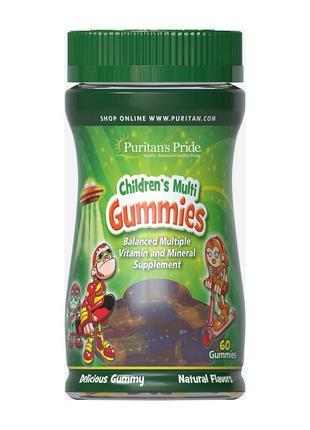 Children's Multi Gummies Вітаміни та мінерали для дітей 60 gummie