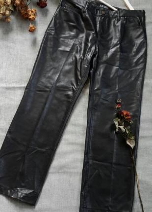 Брюки мужские под кожу armani jeans