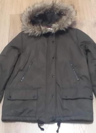 Куртка женская mango, цвет хаки, размер s.распродажа!!!