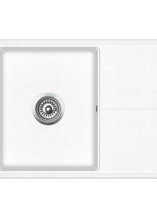 Мойка для кухни гранитная Aquasanita Bella SQB-101AW-710 белый