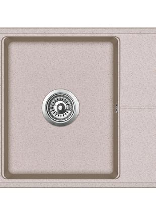 Мойка для кухни гранитная Aquasanita Bella SQB-102AW-110 бежевый
