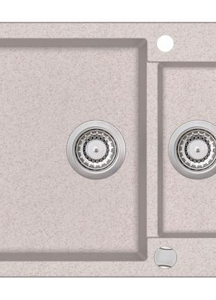 Мойка для кухни гранитная бежевая AquaSanita TESA SQT-151-110