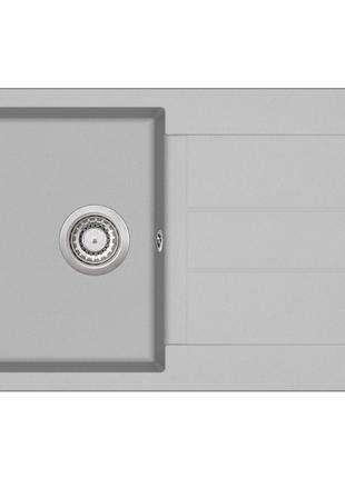 Мойка для кухни гранитная Aquasanita Tesa SQT-101AW-220 серебро