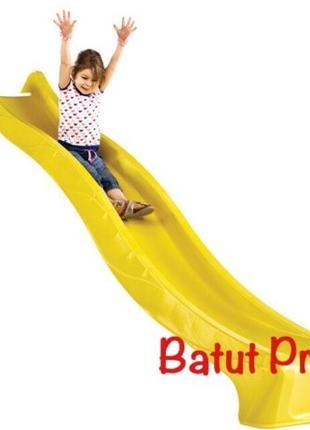 Детская горка для спуска 3 м. KBT Желтая