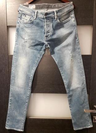 Светло синие джинсы gas