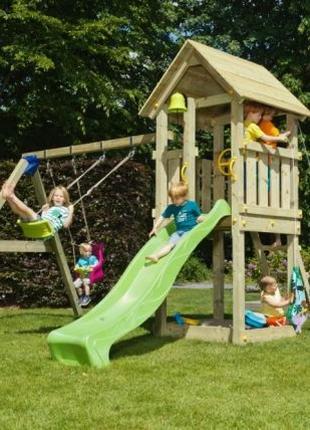 Детская игровая площадка KIOSK + SWING (Blue Rabbit)