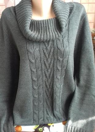 Вязаный свитер с большим воротником от boysen's. оригинал.