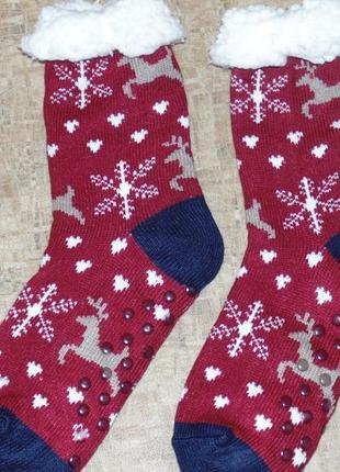 Носки на овчине с тормозами, очень теплые и мягкие, разные цвета