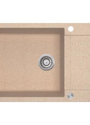 Мойка для кухни гранитная бежевая AquaSanita TESA SQT-105-110