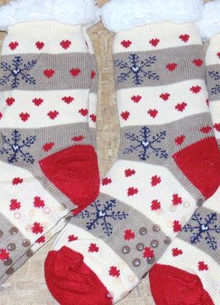 Носки женские на овчине с тормозами, очень теплые и мягкие, ра...