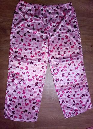 Красивые штанишки пижамные атласные
