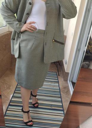 Вінтажний костюм двійка спідниця юбка піджак жакет
