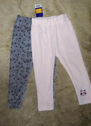 Комплект симпатичных велюровых штанишек