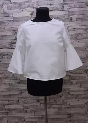 Белый коттоновый пиджак блуза