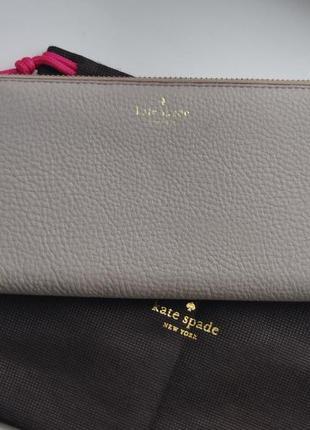 Кожаный кошелек kate spade / шкіряний гаманець